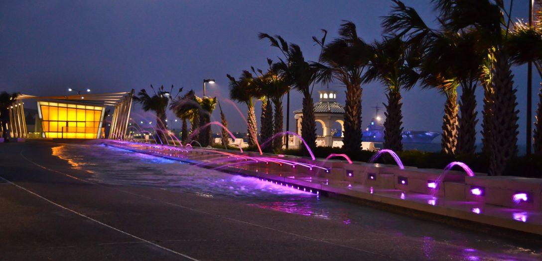 Corpus Christi Bayfront Show Fountain