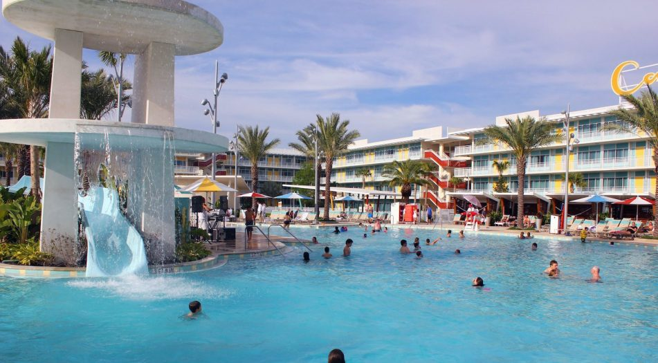 Universal's Cabana Bay Resort Pool Slide and Water Feature