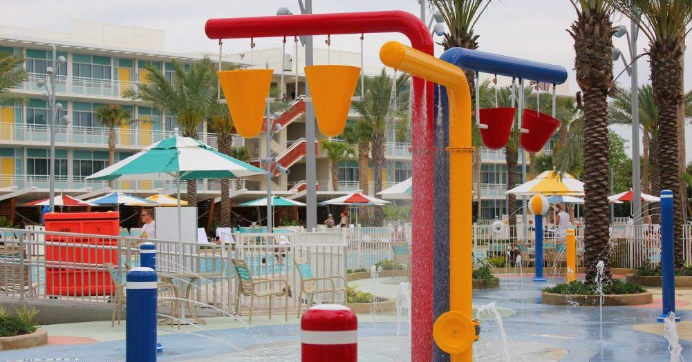 Universal's Cabana Bay Wet Play Elements