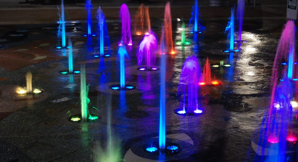 The Woodlands Waterway Interactive Show Fountain