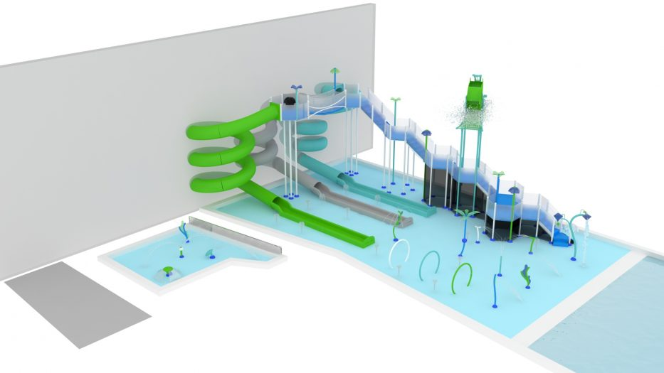Metro Sports Facility Interactive Water Feature