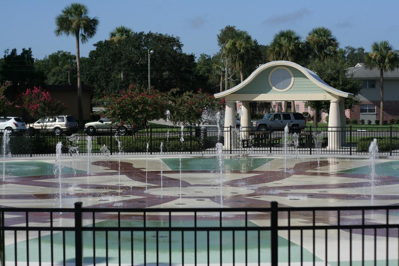 Fort Mellon Park Interactive Water Feature