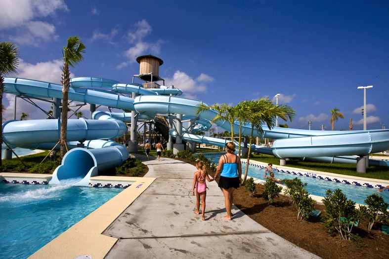 North Collier Regional Park Waterslides