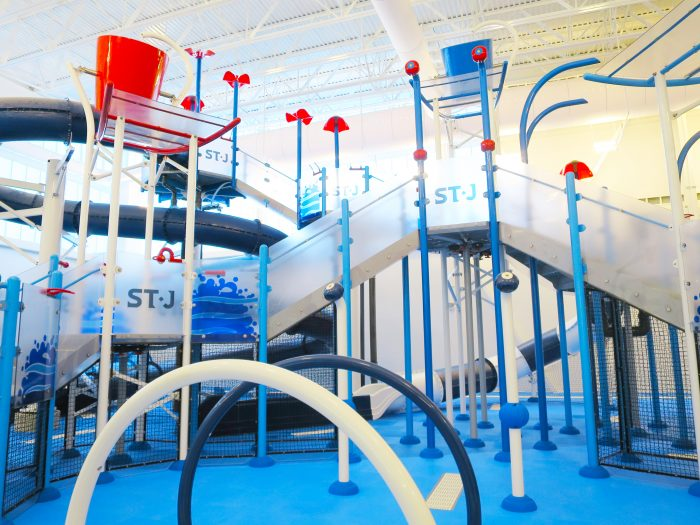 St. James Wellness Center wet play structure