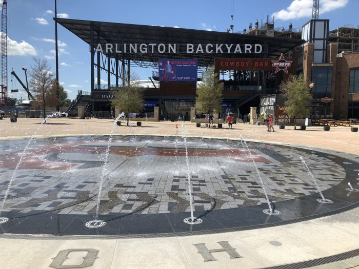 Globe Life Field Nolan Ryan fountain
