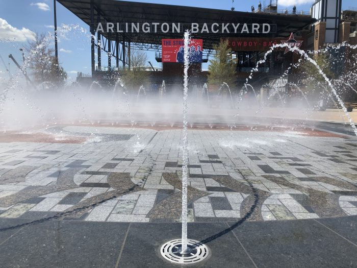 Rangers Ballpark Fountain