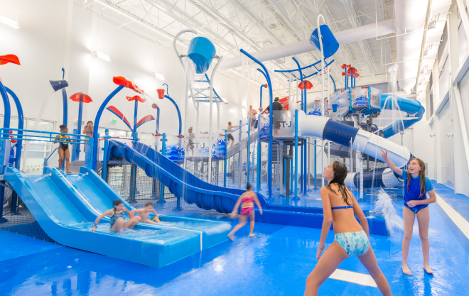 The St. James features a kids aquapark