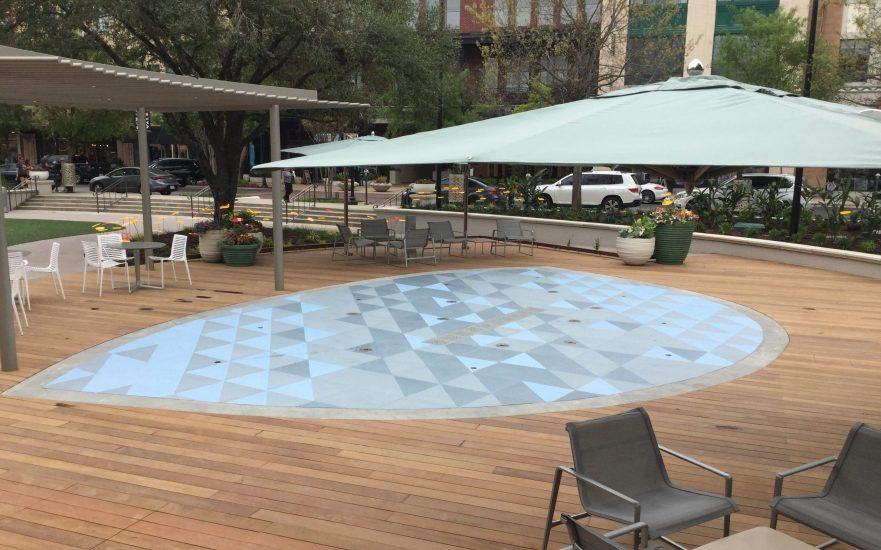 Soft, slip-resistant floor in vibrant blue hues