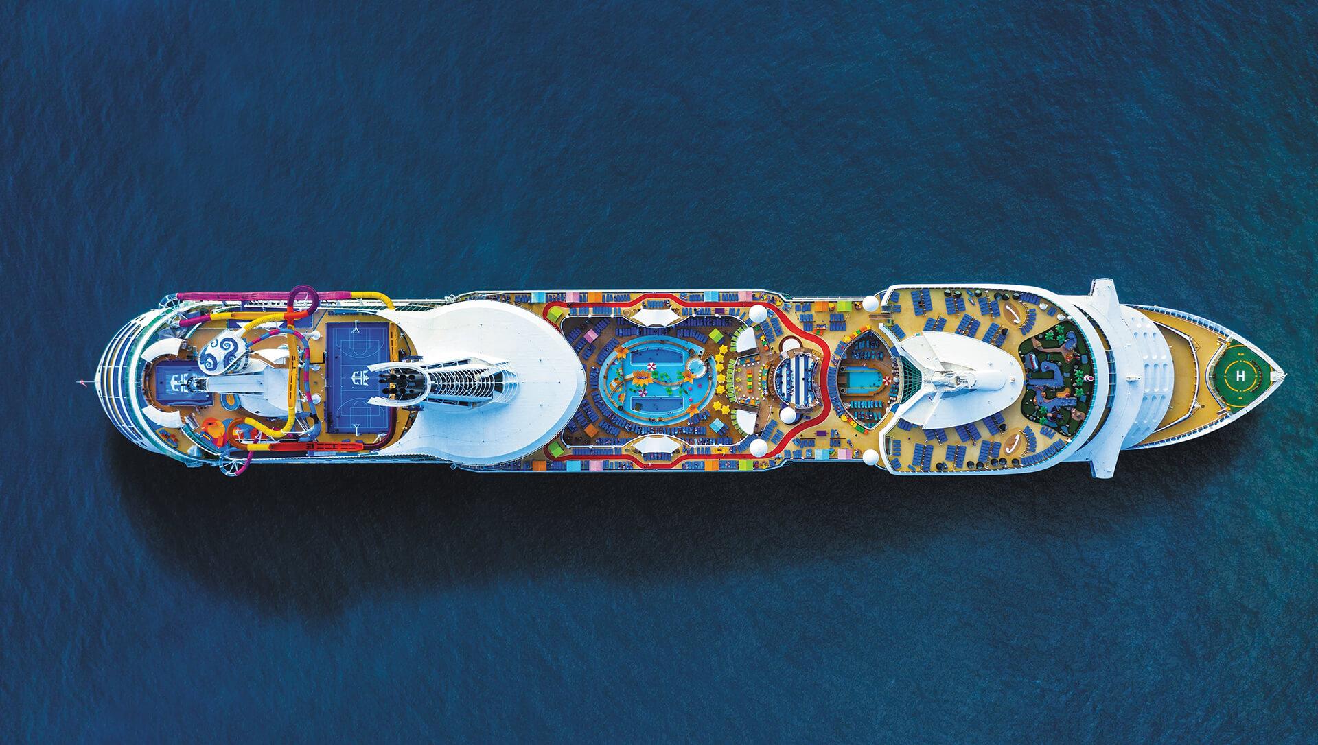 Royal Caribbean's Navigator of the Seas Aerial View