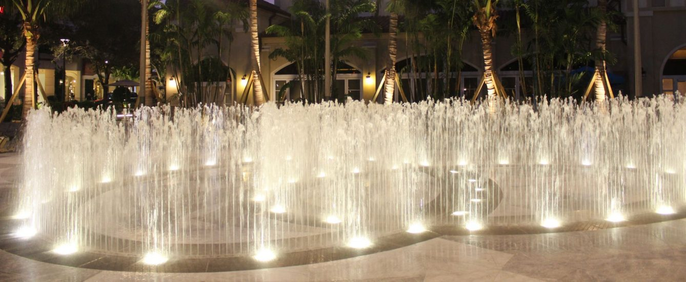 The Water Feature at Night